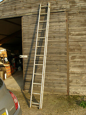 Quality English Made Aluminium Double Extention 20' Ladder 10 Feet X 2 • 45£