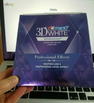AU80 • Buy NEW Crest 3D Professional Effects Teeth Whitening Strips 40 STRIPS / 20 POUCHES