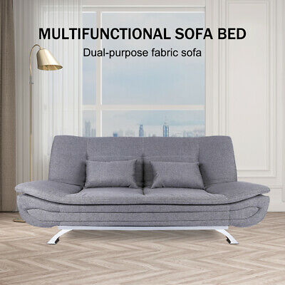 AU486.99 • Buy 3 Seater Sofa Bed Lounge Futon Couch Beds Fabric Recliner Furniture Home Gray AU