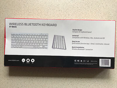 Slim Wireless Bluetooth Keyboard For Imac Ipad Android Phone Tablet Pc • 9.99£