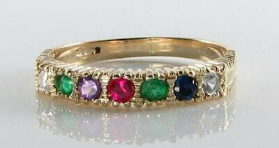 £249 • Buy Classic 9k 9ct Yellow Gold Dearest Art Deco Ins Eternity Ring Free Resize