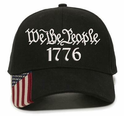 $ CDN27.24 • Buy We The People 1776 Embroidered Hat 2nd Amendment USA300 Outdoor Cap W/Flag Brim