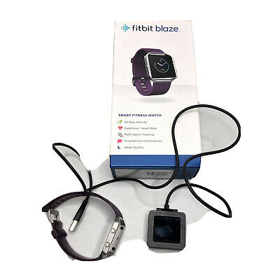 $ CDN85.94 • Buy Fitbit Blaze Smart Fitness Watch Small Plum Band With Charger Box FB502SPMS