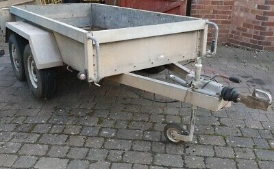 IFOR WILLIAMS TWIN AXLE BRAKED 4 WHEEL TRAILER 8'3 X4'2  OLD BUT LITTLE USE  • 620£