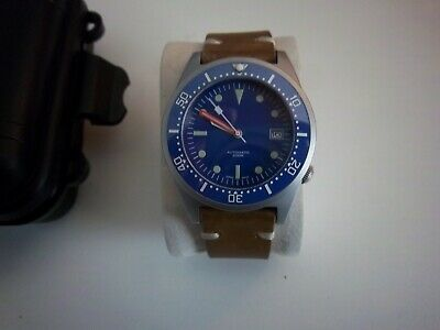 $ CDN160.21 • Buy Steeldive 15121-026 Unbranded 50 Atmos Squale Blue Dive Watch