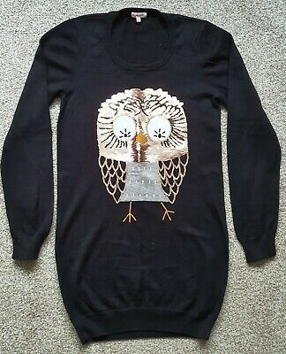 Girls Bluezoo Black Owl Sequin Jumper Dress Age 13-14 Years Old • 3.99£