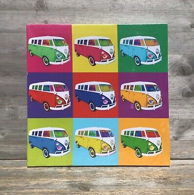 £5.99 • Buy Volkswagen Camper Van Pop Art Canvas Wall Art Picture Print VW Art Work