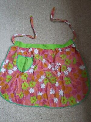£12 • Buy Vintage Pinny/half Apron. 60s Style Pink And Green