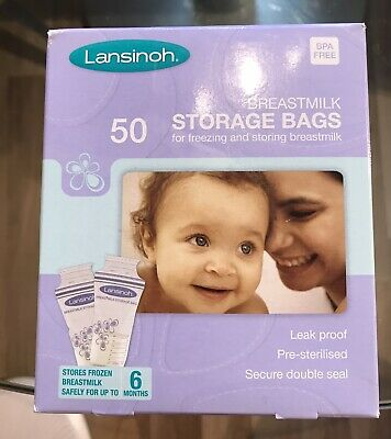 💕Lansinoh Breastmilk Storage Bags (50 Pieces) Brand New In Sealed Box💕 • 6.99£