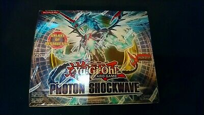 £500 • Buy Brand New Sealed YuGiOh Photon Shockwave 24 Booster Box - 1st Edition - English