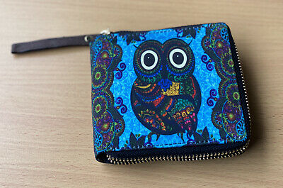 OWL / ETHNIC DESIGN WALLET - MENS Or WOMENS - Unisex - BRAND NEW With Tags • 24.99£