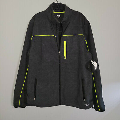 $24.99 • Buy Fila Bonded Jacket New With Tags Mens XXL (2XL) Black/Safety Yellow
