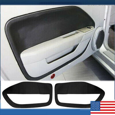 $16.48 • Buy BLACK ABS For FORD MUSTANG 2005 -2009 Pair Interior Door Panel Insert Leather