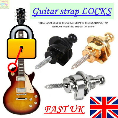 $ CDN5.82 • Buy 🔒 STRAP LOCKS Guitar Locking Buttons Fasteners Screw Bolt Electric Fender Hold