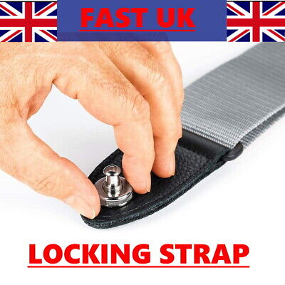 $ CDN6.08 • Buy GOLD STRAP LOCKS Guitar Locking Buttons Fasteners Screw Electric SAFETY SECURE✅✅