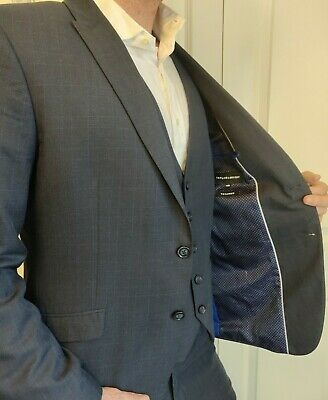 £48 • Buy Taylor & Wright Tailored 3 Piece Suit Blue 42R
