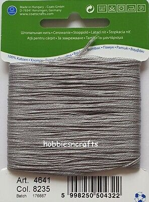 £1.75 • Buy MID GREY COATS 100% COTTON Thread For Hand Sewing Darning & Mending - 20 Metres