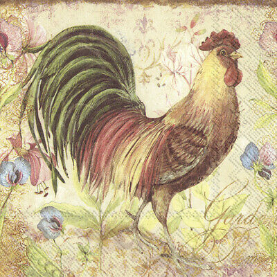 £1.29 • Buy Proud Rooster 4 Napkins 33x33cm Easter Decoupage Paper Table BUY 4 GET 1 FREE