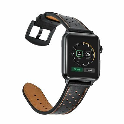 £9.95 • Buy For Apple Watch Series SE 6/5/4/3/2/1 Premium Genuine Leather Watch Strap Band