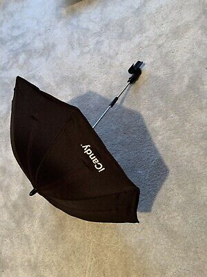 I Candy Peach Parasol With Clip. Black. • 10£