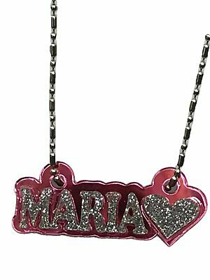 £10.14 • Buy Personalized Name Necklace Any Name Plate With Heart - A Gorgeous Great Gift