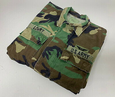 $44 • Buy Vntg WOODLAND CAMO M-65 US ARMY FIELD JACKET SIZE S Long. First Airborne