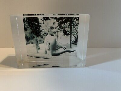 3D Laser Etched Crystal MARILYN MONROE Display/Picture • 28.35£