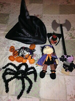 $ CDN8.85 • Buy Halloween Decorations, Lights, Plush Witch, Witch's Hat, Scare Crow, Ax, Pumpkin