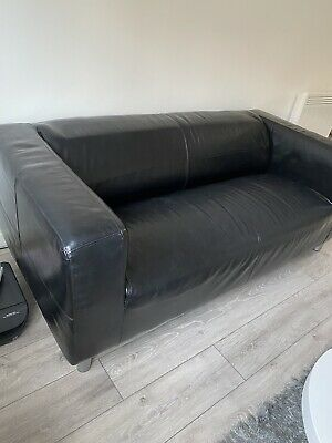 Faux Leather Sofa (great Condition) • 50£
