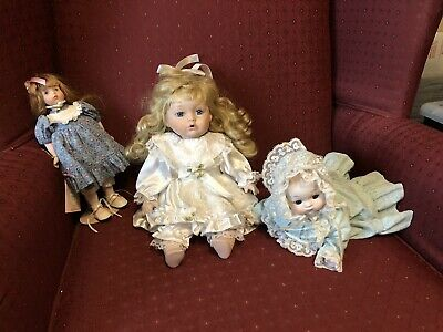 $ CDN18.93 • Buy Porcelain Doll Lot Of 3 Carol Anne By Bette Ball, Plus 2 More Circa 1980s & 90's