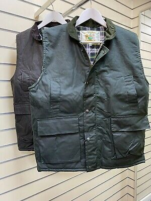 £19.99 • Buy Wax Quilted Padded Gilet Body Warmer Country Farming Shooting Fishing Jacket