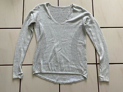 $ CDN12.50 • Buy SOLD OUT! Lululemon Still Movement Sweater Size 4 Heathered Gray Top Yoga