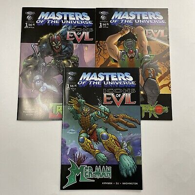 $30 • Buy Masters Of The Universe CGE Icons Of Evil Trapjaw Tri-klops Merman Lot Of 3