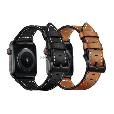 AU15.99 • Buy For Apple Watch Band, Classic Genuine Leather Strap IWatch 44mm/40mm 38mm/42mm