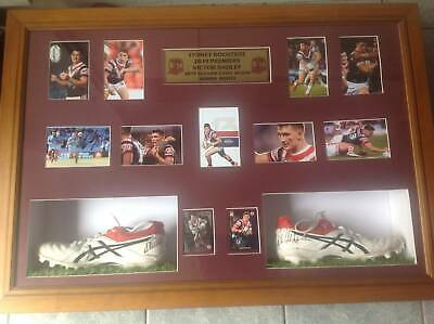 AU600 • Buy Roosters Victor Radley 2019 Game Worn Signed Boots With 2 Cards Photo Coa
