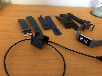 AU20.50 • Buy Fitbit Charge 2 With Charger And Extra Bands SZ L