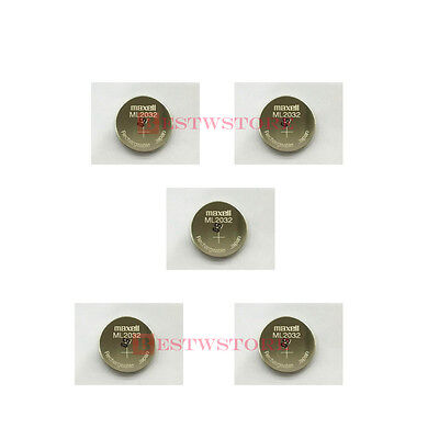 AU21.79 • Buy NEW 5 X MAXELL ML 2032 ML2032 RECHARGEABLE 3V Button Coin Cell CMOS BATTERY