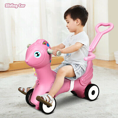 £41.95 • Buy 3 In 1 Baby Rocking Horse Child Rocking Horse Toy With Traction Rope & Music