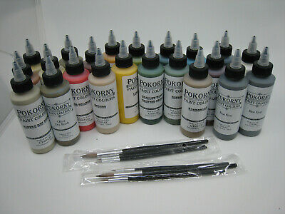 $ CDN253.07 • Buy Dwarven Forge Huge Lot Of Pokorny Paint Colours Bottles & 6 Paint Brushes Resin