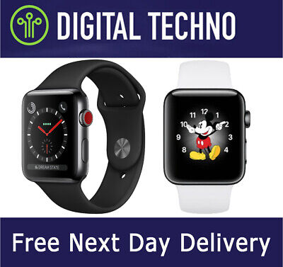 $ CDN259.07 • Buy Apple Watch Series 3 Wi-Fi GPS + Cellular LTE - 42mm Stainless Steel Space Black