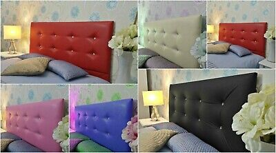 Top Quality Luton Bed Headboard In Faux Leather Fabric S D K Sk Height 30  UK • 99.99£