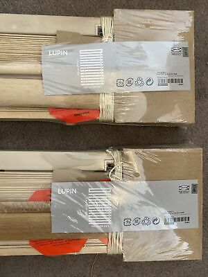 Ikea Lupin Wooden Slatted Blinds 130cm X 100cm • 8£