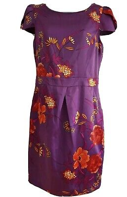 YEN LONDON Women's Purple Mix Floral Tunic Dress. Size UK 12, Euro 40. • 12£