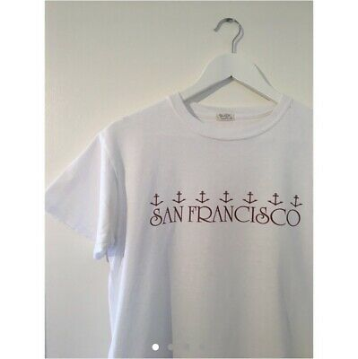 Brandy Melville John Galt White T-shirt With San Francisco Anchor Graphic • 0.99£