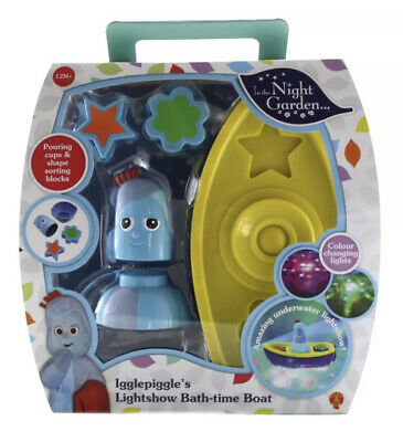 In The Night Garden Iggle Piggle's Lightshow Boat, Bath-Time - Toy - 12 Months+ • 19.95£