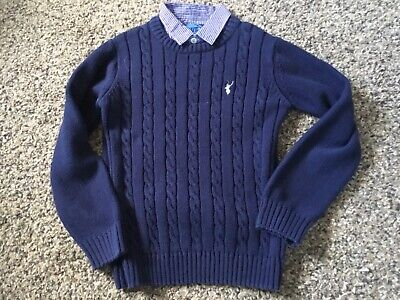 Blue Zoo Boys Jumper - Faux Shirt Inset - Aged 8-9 Years • 3£