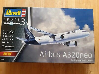 Revell 1/144 Scale A320neo Airbus LH New Livery Plastic Model Kit SKU 03942 • 19.50£