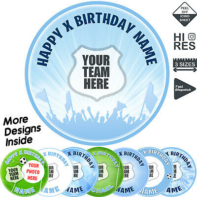 Manchester City Man City Cake Topper Personalised Round Circle Edible Icing • 2.99£