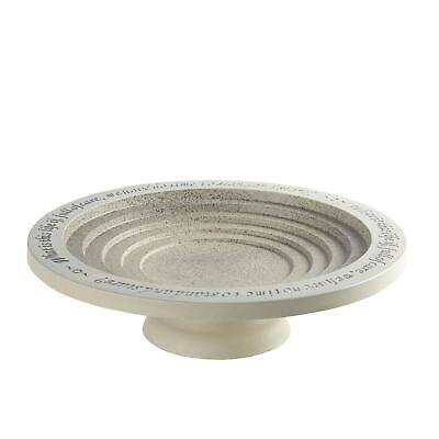 Outdoor Tiered Bird Bath Bowl -Birdbath Drinker With Pedestal, W.H. Davies Quote • 53.56£