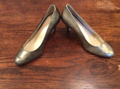 BRAND NEW PEWTER PATENT HEEL SHOES FROM JOHN LEWIS Size 5/38 • 5£